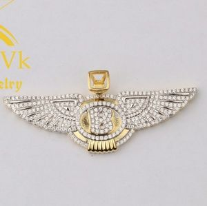 Onixxivk Accessories Iced Out Custom Luxury Car Logo Wings Pendant